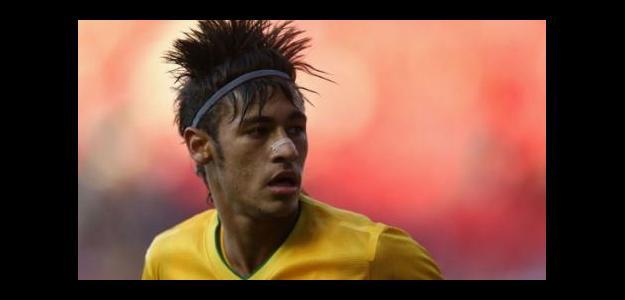 Neymar con Brasil en los Juegos Olímpicos de Londres 2012