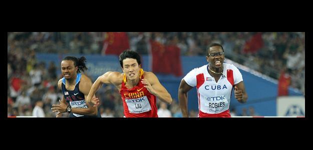 Merritt, Robles y Xiang en una carrera